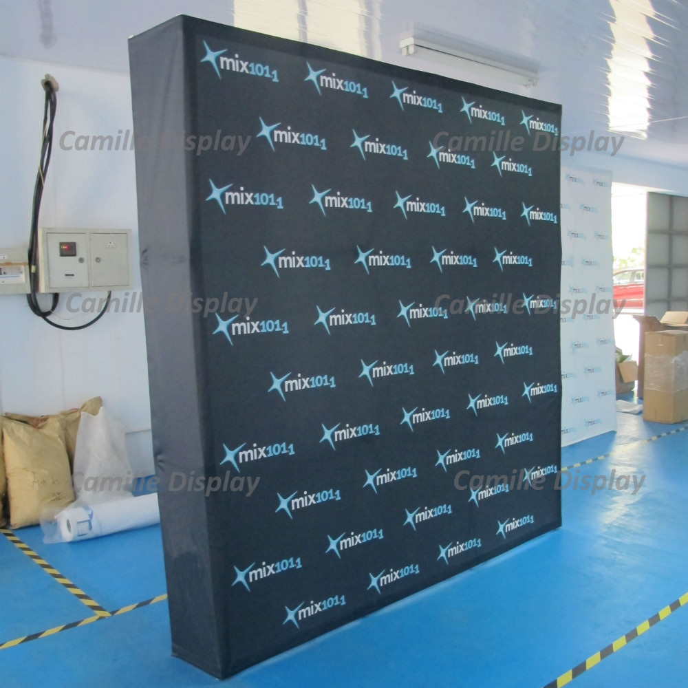 Fabric Pop Up Exhibition Stands : Straight tradeshow display velcro fabric pop up stands