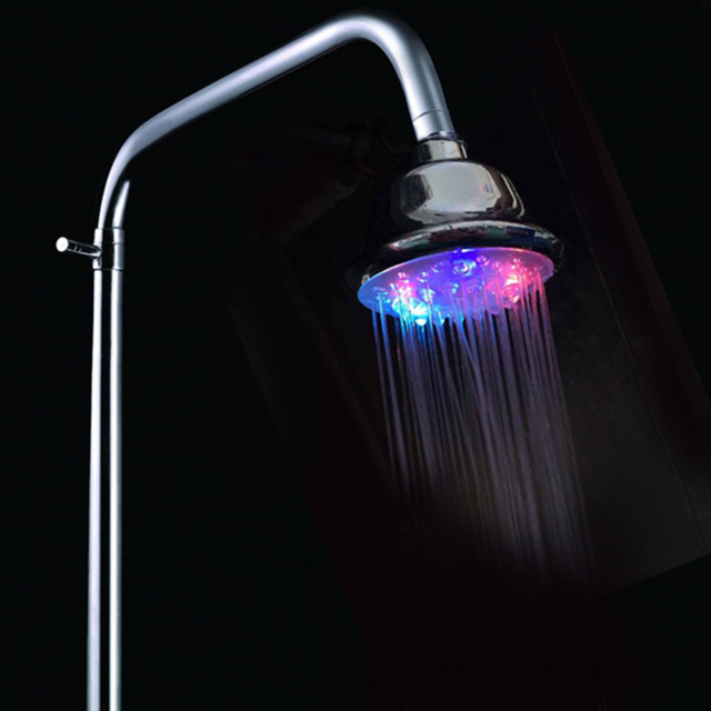 Bunte Selbst Ändern LED Duschkopf Badezimmer Zubehör LED Leucht Dusche Düse  Bunte Flimmern