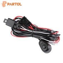 Partol авто светодиодный лампа фары оплетка для проводов комплект Offroad светодиодные панели жильный кабель DC12V 40A