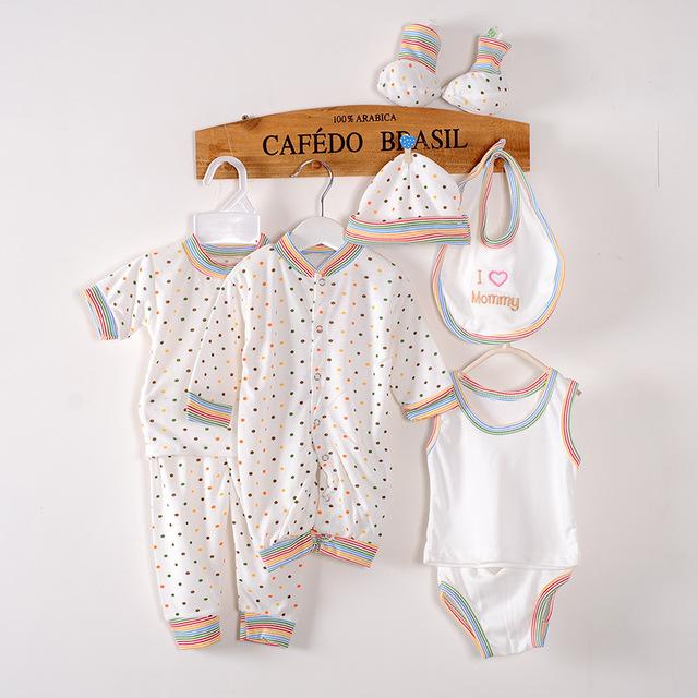 (8 unidades/pacote) baby boy roupas crianças bebê nascido menina roupas de Boa qualidade da roupa do bebê set vestuário infantil bebek giyim
