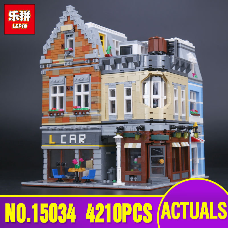Lepin 15034 4210Pcs Genuine MOC Series The New Building City Set Building Blocks Bricks Educational Toys Model Children Gifts lepin 02012 774pcs city series deepwater exploration vessel children educational building blocks bricks toys model gift 60095