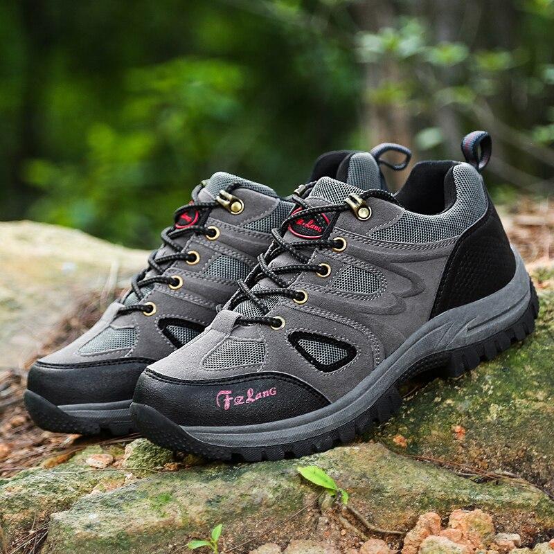 Man Waterproof Breathable Hiking Shoes Outdoor Boots Trekking Sport Sneakers Male Waterproof Shoes chaussure randonnee homme tba winter sneakers women s hiking shoes waterproof trekking boots women breathable leather women s sneakers outdoor sport shoes