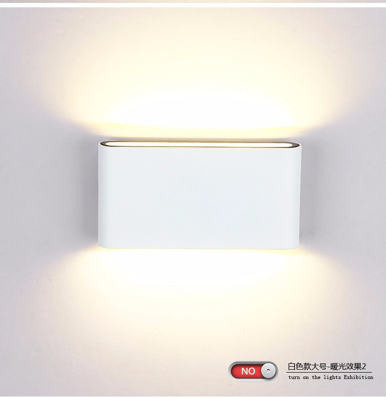 Indoor outdoor lighting dimmable cob led wall light 6w 12w ac85 265v indoor outdoor lighting dimmable cob led wall light 6w 12w ac85 265v updown led wall lamps whitewarm white living room bedroom in led indoor wall lamps aloadofball Image collections