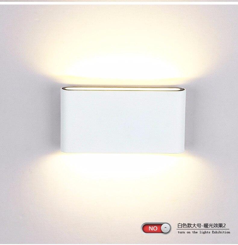 Indoor Outdoor Beleuchtung Dimmbar COB LED Wandleuchte 6 Watt 12 AC85 265V Up