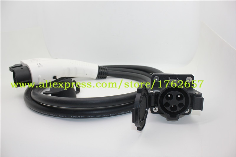 SAE J1772 Type 1 female plug to Type 1 male socket 32A with 2M black cable EV charging connectors EV charger adapter аксессуар moizen magnetic charging cable 1 2m для iphone silver snap c1a 1 si