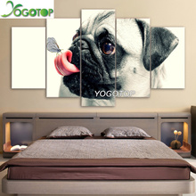 YOGOTOP DIY Diamond Painting Cross Stitch Kits Full Diamond Embroidery 5D Diamond Mosaic Home Decor  Lovely dog 5pcs ML222 yogotop diy diamond painting cross stitch kits full diamond embroidery 5d diamond mosaic home decor two wolf 5pcs ml224