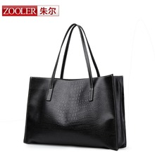 Designer handbags high quality Fashion shopping bag 2016 cowhide large genuine leather bag Crocodile casual women shoulder bags