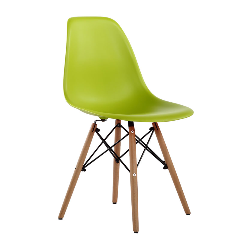 Dining Chair Polymer Furniture The Modern Popular Plastic Chair Leisure  Composition Of Synthetic Resin And Solid Wood Legs 4PCS In Dining Chairs  From ...