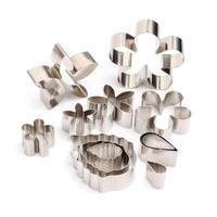 LEMAIJIAJU 12Pcs Set Metal Cookie Cutters Flower Shape Stainless Steel Cookies Cutter Baking Mold L50