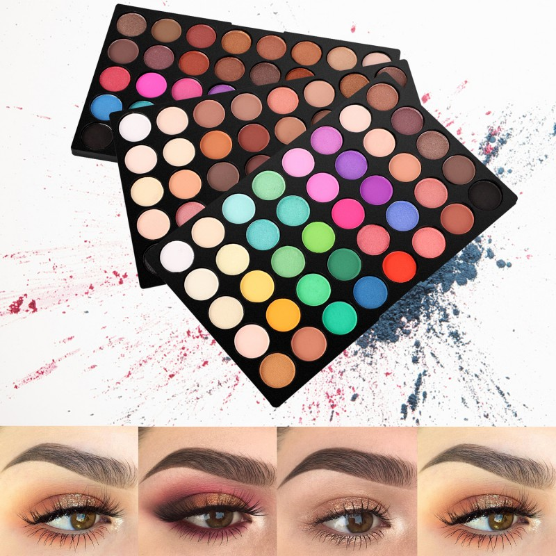 120 Colors Professional Makeup Glitter Eyes Palette Color Cosmetics Waterproof Shimmer Glitter Eyeshadow Palette N24