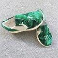 Nuevas Muchachas Zapatos Kids Lace Up Marca de Impresión de Hoja de Plátano Yeezy Zapatos Chaussure Zapatos De las Niñas Zapatos Tamaño Garcon 26-33