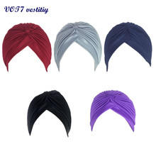 2017 Fashion VOT7 vestitiy New Multifunctional Turban Ear Cap Beauty Big Satin Bonnet Beautiful knitting hat Sep 15