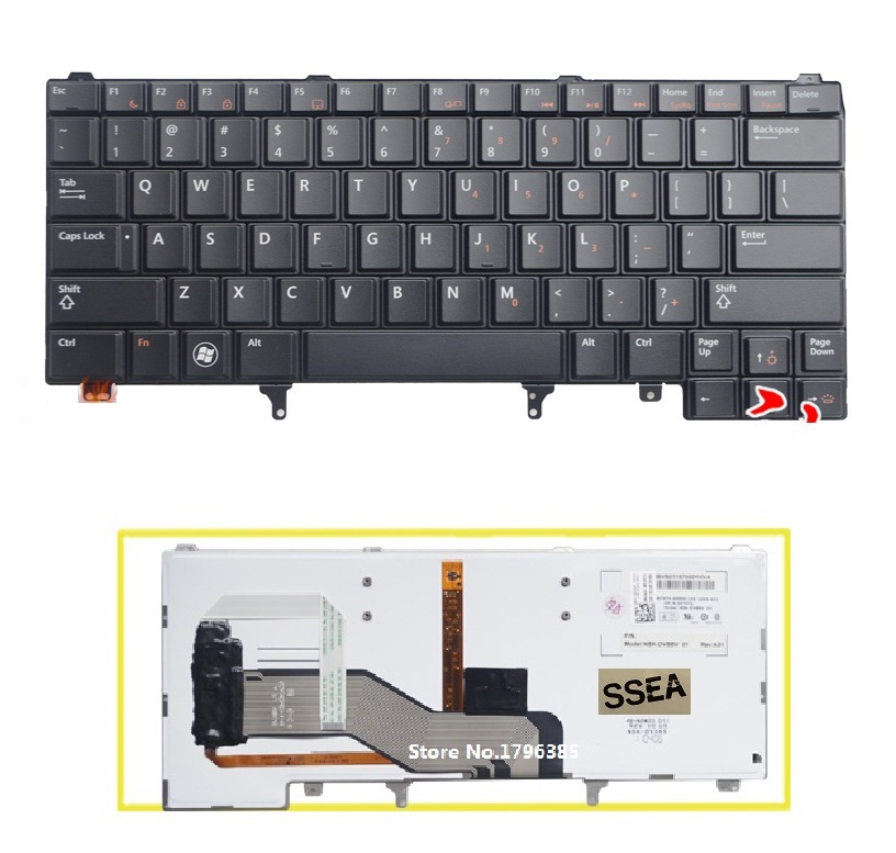 SSEA New US Keyboard English For DELL Latitude E6420 E5420 E5430 E6220 E6320 E6330 E6430 laptop Keyboard With backlight fast ship diesel engine s195 crankshaft use on suit for changchai wanli and all chinese brand