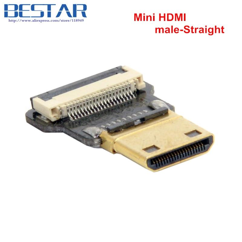 CYFPV Mini HDMI-typ C Kvinna-uttag och hane-Straight & Male-Up & - Datorkablar och kontakter - Foto 2