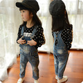 Весна детские джинсовые комбинезоны Корейской версии детская одежда детей брюки милые платья детская одежда