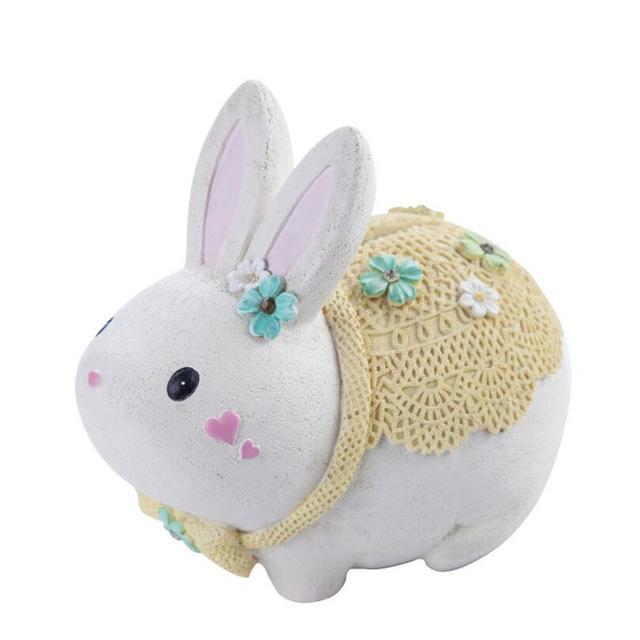 Tirelire lapin blanc bébé 3