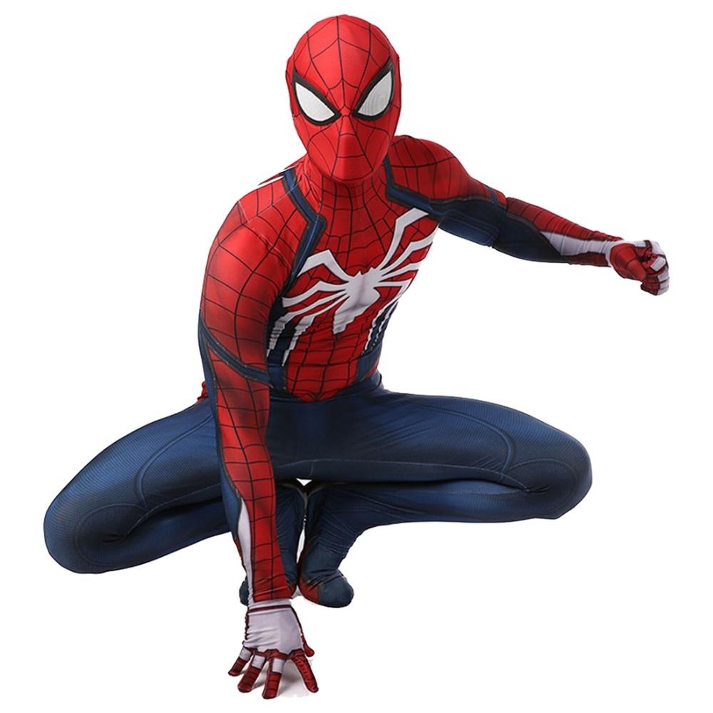 Nouveau ps4 insomniac spiderman déguisement Spandex jeux Spidey Cosplay Halloween Spider-man Costumes pour adulte livraison gratuite
