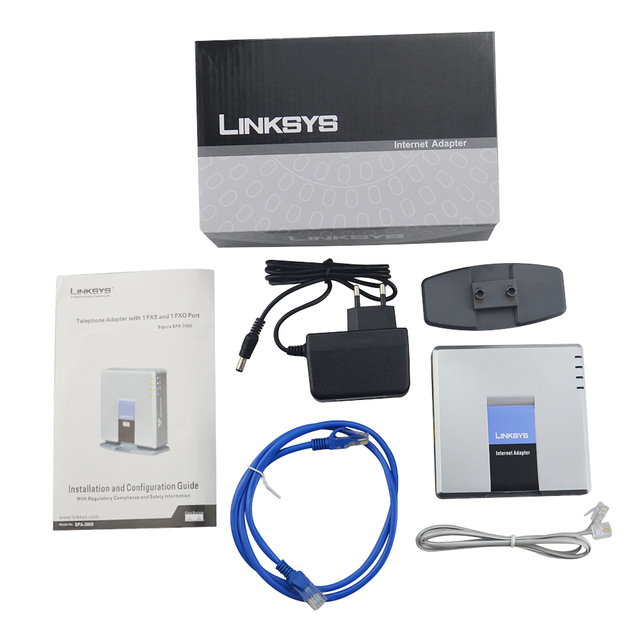 Free fast shipment!Best UNLOCKED LINKSYS SPA3000 SPA 3000 VOIP FXS gateway Phone Adapter Brand New