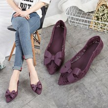 EOEODOIT Jelly Flats Women 2019 Summer Rain Shoes