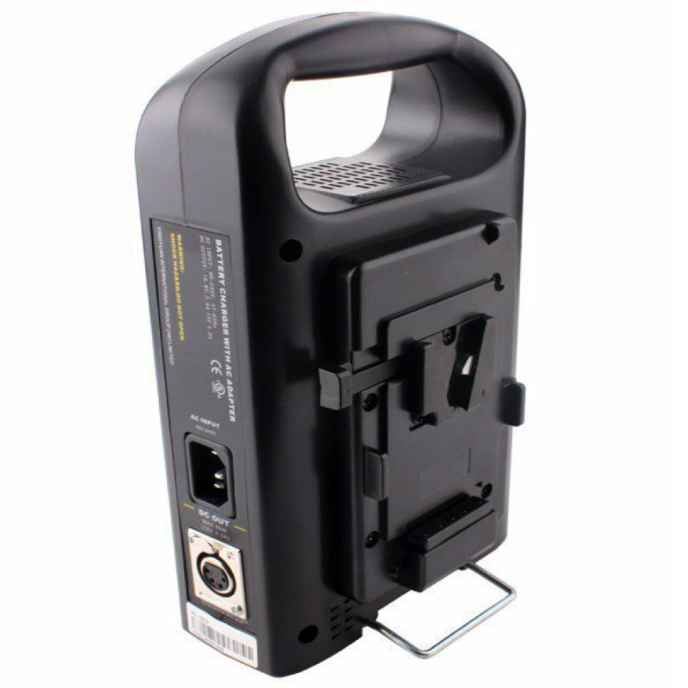 Rolux 2 Channel Dual V mount V Lock Li ion BP Battery Power Charger