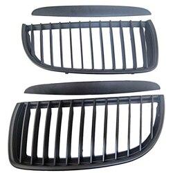 Styl samochodu matowy nerek przodu samochodu Auto samochód wyścigowy maskownica do BMW E90 E91 serii 3 czarny nerek grille 05-08 m3