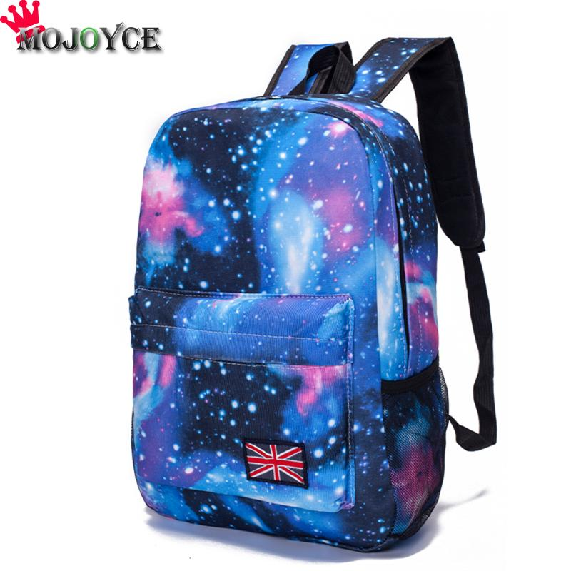 Women Backpack Starry Sky School bag For Teenager Girl Ladies Casual Travel Bags Universe Space Mochila Feminina Sac a Dos 2018