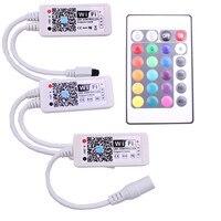 Wifi RGB/RGBW LED Controller Mini DC12V Met RF IR 24Key Afstandsbediening Voor RGB/RGBW LED Strip 5050 3528 RGB RGBW Lichten