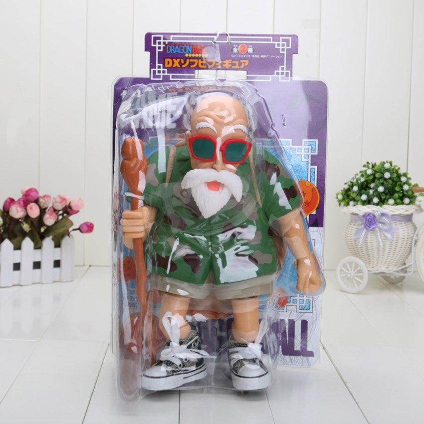 18-25 см Dragon Ball Z Dragon Ball детство Сон Гоку куририн Мастер Роши ПВХ фигурка модель игрушки - Цвет: green cloth box