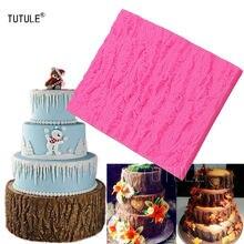 Гаджеты форма для украшения коры дерева 3d торта безопасная
