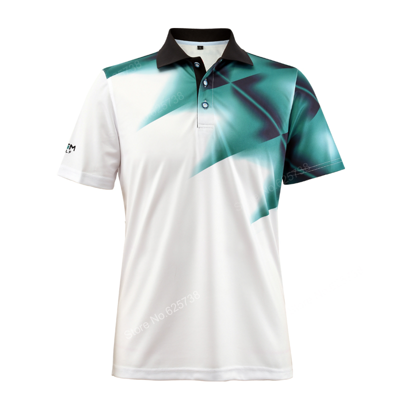 Pgm golf shirts men sports summer golf apparel quick dry t-shirt breathable elastic short-sleeve uniforms golf clothing 4 color