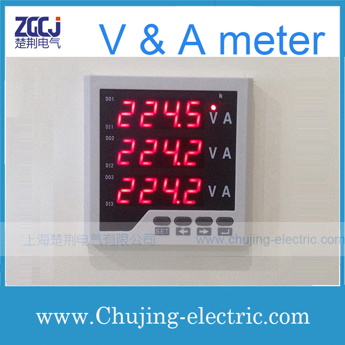 Free Shipping 3 Phase Ac A U0026v Meter   Electric Power Meter