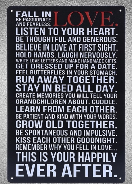 60 Piece Love Life Quotes Saying Tin Plate Sign Wall Room Man Cave Unique Life Quotes And Saying