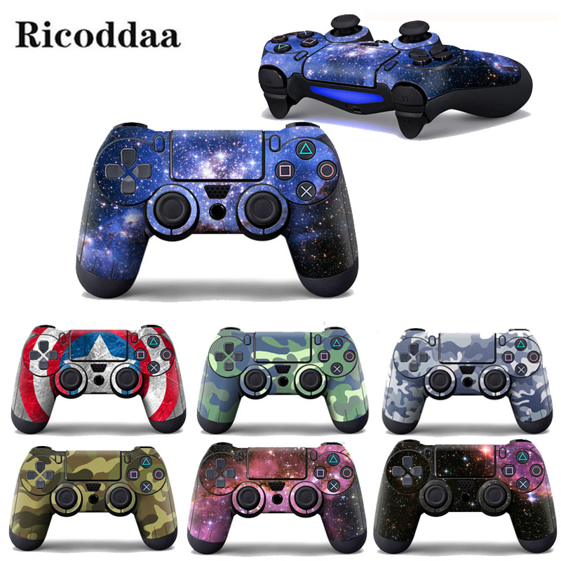 Star Skies Camouglage Vinyl Decal Skin Sticker For Sony Playstation 4 Controller Protector Skin Cover For PS4 Controle Accessory(China)