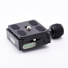 QR 50 PU 50 Platz Clamp Adapter Platte mit Gradienter für Quick Release Platte für stativ Kugelkopf Arca Swiss RRS Wimberley