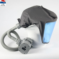 PROVIDE Electric blower Air supply respirator mask chargeable it can move Hooded Anti virus dust mask full face respirator