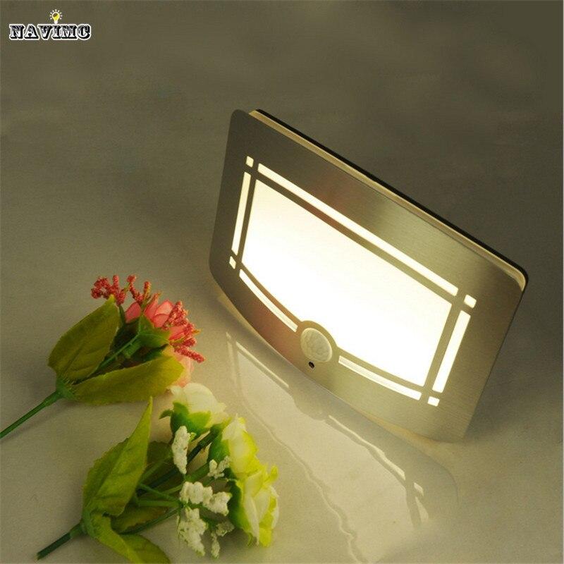 2016 Wireless Infrared Motion Sensor Wall LED Night font b Light b font Novelty Battery Powered