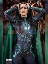 Thor Ragnarok Cosplay Hela, disfraz de superhéroe Zentai para fiesta de Halloween, Mono para adultos con capa, hecho a medida