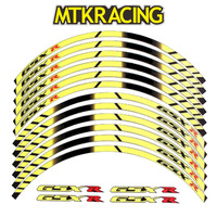 MTKRACING 4 color For HONDA CBR General purpose motorcycle wheel decals Reflective stickers rim stripes CBR motorbike CBR
