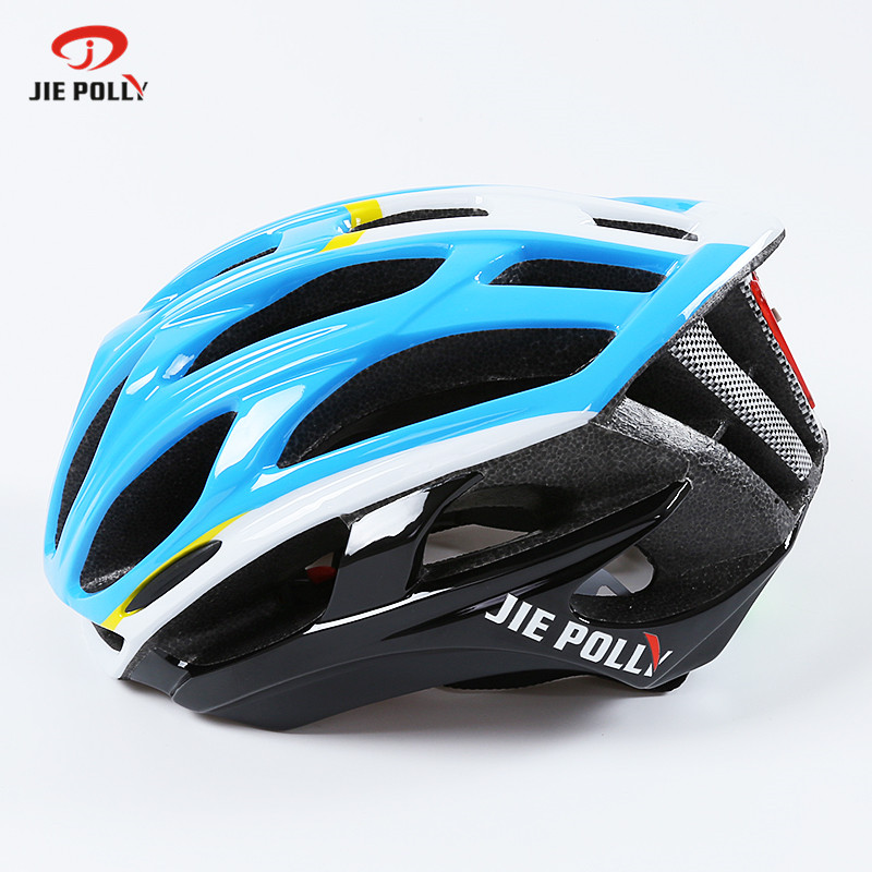 Jiepolly Ultralight  Cycling Helmet Bicycle Helmet Integrally-molded Helmet with Warning Light Capacete Casco Ciclismo 54-58cm rockbros bicycle helmet ce certification cycling helmet integrally molded bike helmet casco ciclismo 56 62 cm