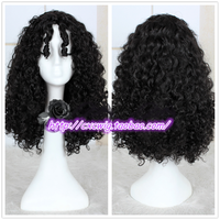 Fairy Tale Tangled Mother Gothel Black wig Role Play Witch Black Hair Rapunzel Role Play Costumes
