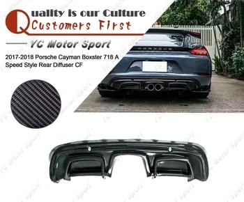 Car Accessories Carbon Fiber Arma Style Rear Bumper Diffuser Fit For 2017-2018 Cayman Boxster 718 Rear Diffuser Lip