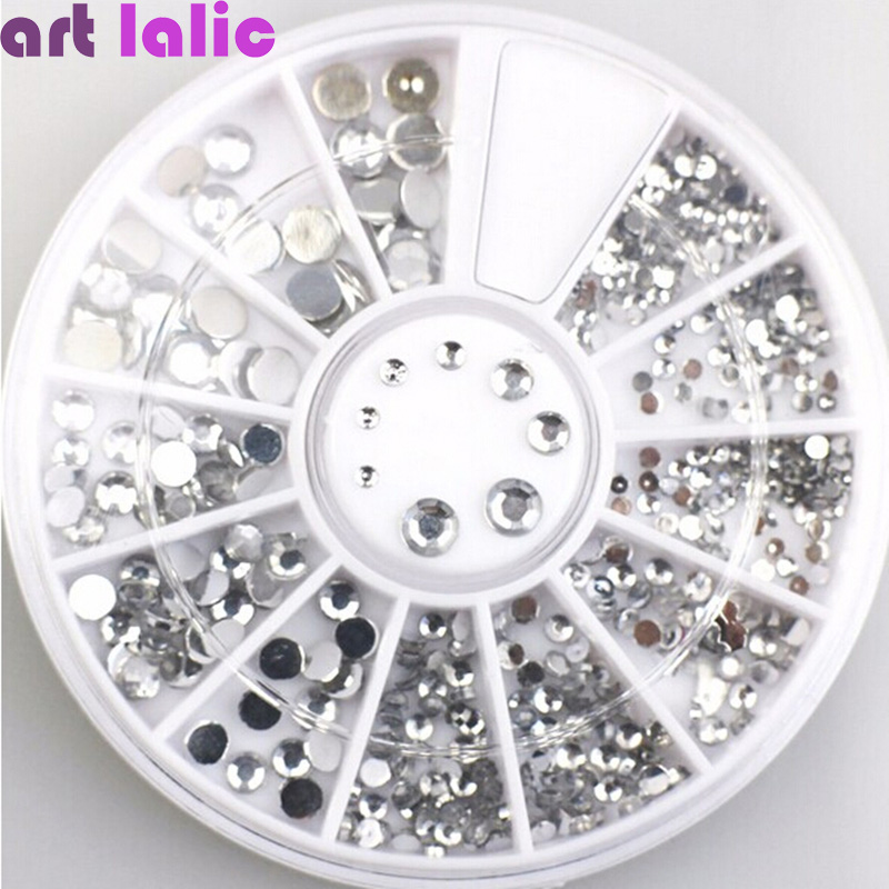3D Nail Art Decorations Acrylic Diamond Shapes Rhinestones
