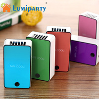 LumiParty Portable Mini USB Fan Handheld Desktop Bladeless Refrigeration Cooler With Stand Support Office No Leaf