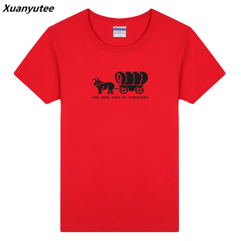 a1bf5fde Xuanyutee The Oregon Trail Settler Gamer Fans Tee Shirt Homme De Marque Big  Yard O Neck Short Sleeve European Size Drop Shipping-in T-Shirts from Men's  ...