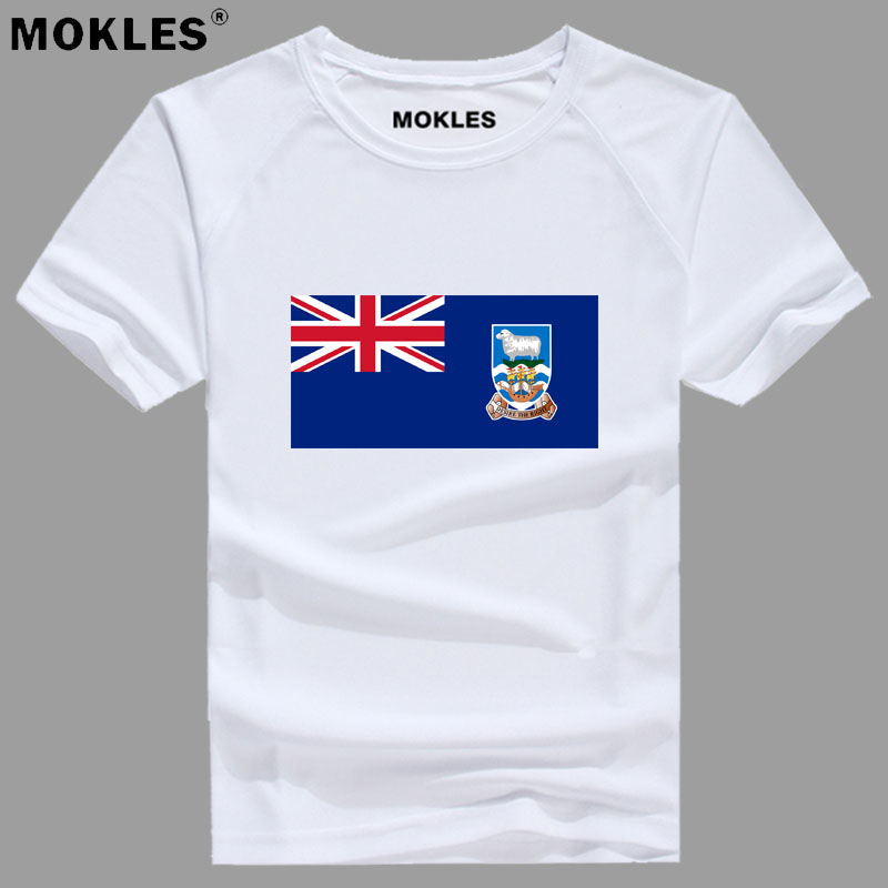 FALKLAND ISLANDS MALVINAS t shirt logo free custom name number flk t-shirt nation flag country print text college photo clothing