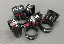 TOSEEK Carbon Fiber Road Bicycle Seat Post Accessories Clamp Quick Release Road Bike Mountain Bicycle Seat Post Seatpost Clamp