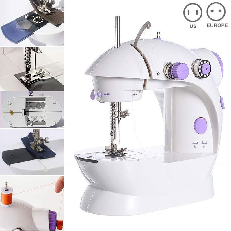 Shipping From Russia Newly Mini Sewing Machines Handheld Dual Speed Double Thread Multifunction Electric Mini Automatic