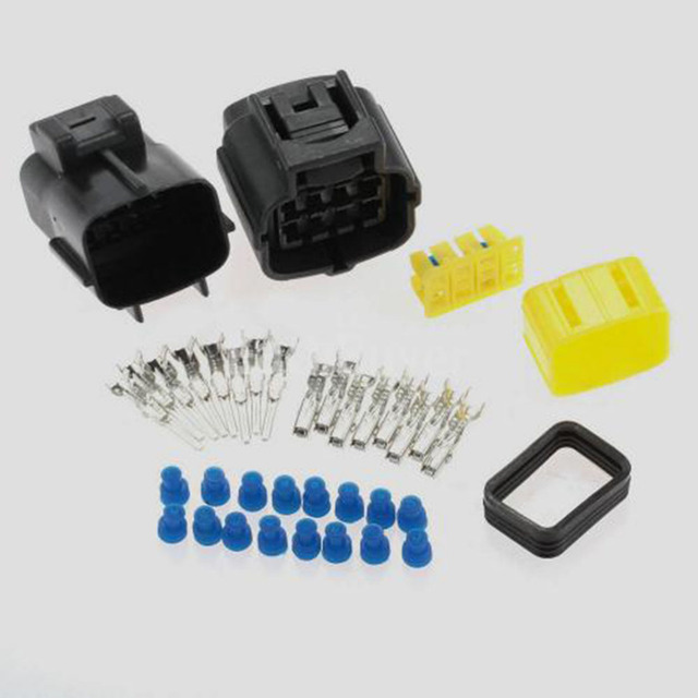 Dewtreetali 1 Kit 8 Pin Way Waterproof Wire Connector Plug Car Auto Sealed Electrical Set Car Truck For Car Boat