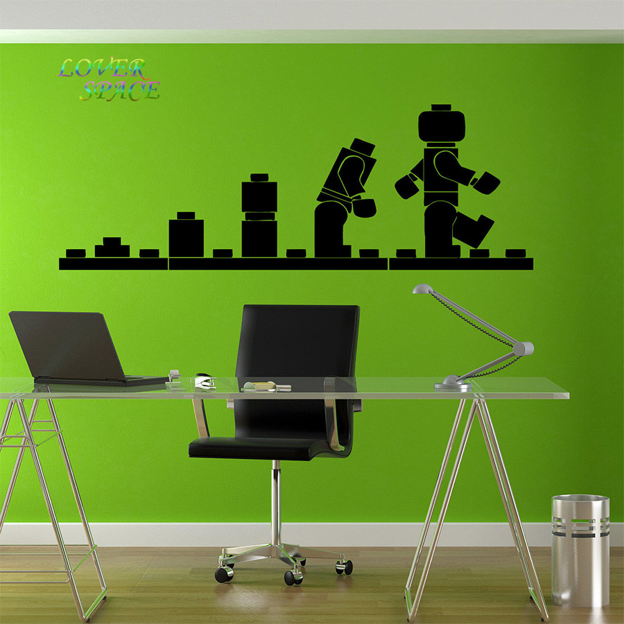 Lego evolution decal wall sticker lego wall art vinyl stencil kids lego evolution decal wall sticker lego wall art vinyl stencil kids room cartoon decorative stickers brand quote diy home decor in wall stickers from home amipublicfo Gallery