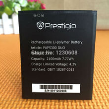 for Prestigio MultiPhone pap5300 duo battery 3.7v 2100mah high quality mobile phone replacement li-ion battery